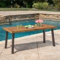 Christopher Knight Home Della Outdoor Acacia Wood Rectangle Dining Table