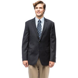 Men's Navy Blue Wool Blazer