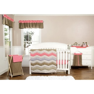 Trend Lab Baby Cocoa Coral 3 Piece Crib Bedding Set