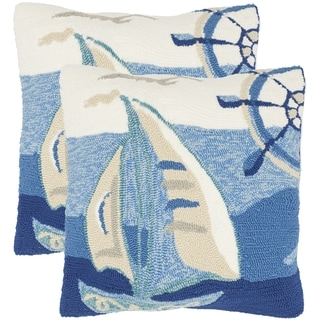 Safavieh Seascape 20-Inch Marine Decorative Throw Pillow (Set of 2)