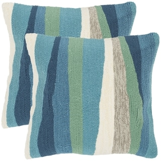 Safavieh Ocean Abstract 20-Inch Sea Decorative Throw Pillow (Set of 2)