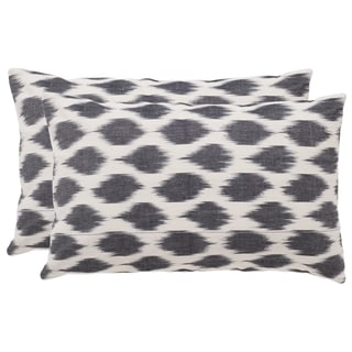 Safavieh Polka Dots 20-Inch Charcoal Decorative Throw Pillow (Set of 2)
