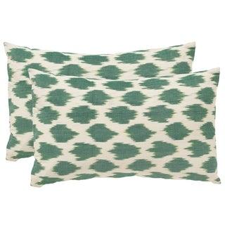 Safavieh Polka Dots 20-Inch Aqua Decorative Throw Pillow (Set of 2)