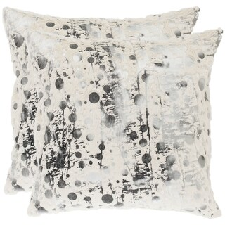 Safavieh Nars 24-Inch White Decorative Throw Pillow (Set of 2)