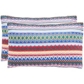 Safavieh Mirabelle 20-Inch Blue Decorative Throw Pillow (Set of 2)