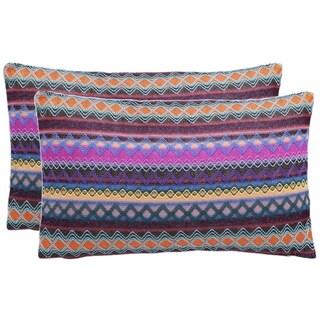 Safavieh Mirabelle 20-Inch Chocolate Decorative Throw Pillow (Set of 2)