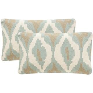 Safavieh Argo 20-Inch Dusk Blue Decorative Throw Pillow (Set of 2)