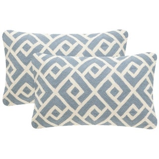 Safavieh Swifty 20-Inch Periwinkle Decorative Throw Pillow (Set of 2)