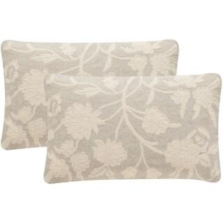 Safavieh Vannes 20-Inch Greige Decorative Throw Pillow (Set of 2)