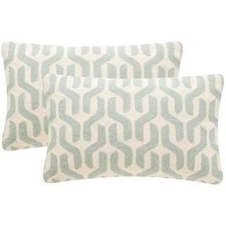 Safavieh Minos 20-Inch Misty Mint Decorative Throw Pillow (Set of 2)