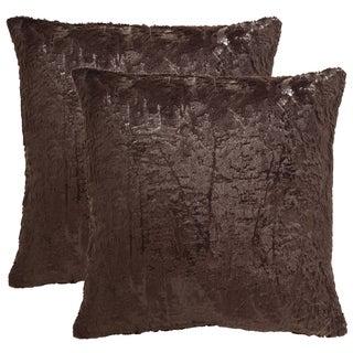 Safavieh Kiki 24-Inch Dark Truffle Decorative Throw Pillow (Set of 2)