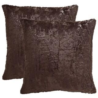 Safavieh Kiki 20-Inch Dark Truffle Decorative Throw Pillow (Set of 2)