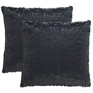 Safavieh Kiki 24-Inch Black Opium Decorative Throw Pillow (Set of 2)
