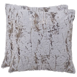 Safavieh Misfit 24-Inch Grey Moon Decorative Throw Pillow (Set of 2)