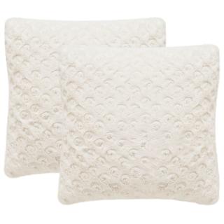 Safavieh Pebbles 20-Inch Crème Decorative Throw Pillow (Set of 2)