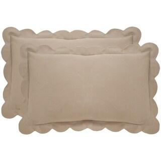 Safavieh Pinafore 20-Inch Tan Decorative Throw Pillow (Set of 2)