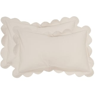 Safavieh Pinafore 20-Inch Antique White Decorative Throw Pillow (Set of 2)