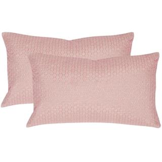 Safavieh Box Stitch 20-Inch Neon Petunia Decorative Throw Pillow (Set of 2)