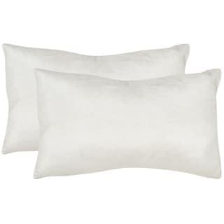Safavieh Luster 20-Inch Snow White Decorative Throw Pillow (Set of 2)