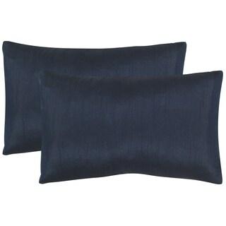 Safavieh Luster 20-Inch Indigo Decorative Throw Pillow (Set of 2)