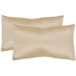 Safavieh Luster 20-Inch Olive Bronze Decorative Throw Pillow (Set of 2)