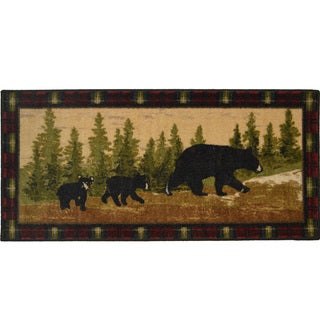 """Following Mama Non-skid Kitchen Accent Mat Rug - 1'8"""" x 3'8"""""""