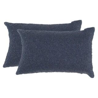 Safavieh Essence 18-Inch Midnight Navy Decorative Throw Pillow (Set of 2)
