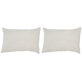 Safavieh Glitter 18-Inch Sparkling Pearl Decorative Throw Pillow (Set of 2)