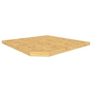Bold Series Tan/Silver Bamboo/Stainless Steel Corner Wall Worktop