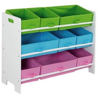Home Basics Kids' Multicolored Cloth Furniture Shelves And Cubbies With 3 Options