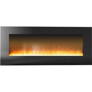 Cambridge CAM56WMEF-1BLK Metropolitan 56-inch Wall-mount Electronic Fireplace With Flat Panel
