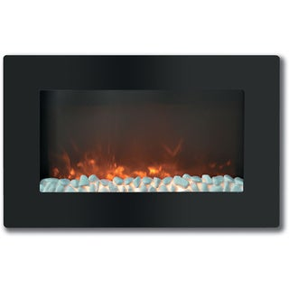 Cambridge Callisto 30-inch Wall-mount Flat Panel and Crystal Electronic Fireplace