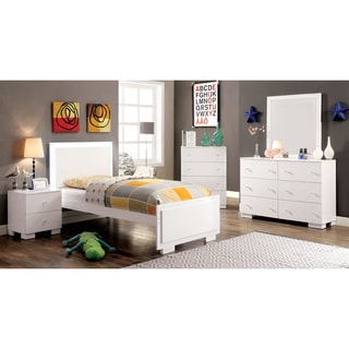 Furniture of America Isobelle Modern 4-piece White Youth Bedroom Set