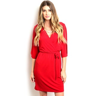 Shop the Trends Women's 3/4 Sleeve Missy Dress