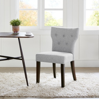Madison Park Hayes Grey Tufted Back Dining Chair 2-Piece Set