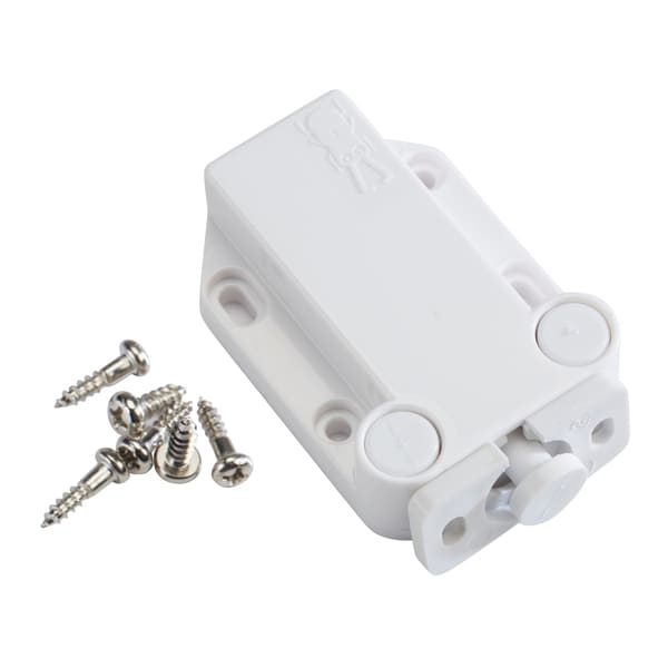 Sugatsune LAMP Non-Magnetic Touch Latch Safe Push Latch White
