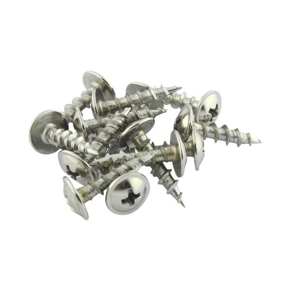 Rok Hardware #8 x 0.75 inch Deep / Coarse Thread Phillips Modified Truss Head Screws Type 17 Point Nickel Plated (Pack of 100)
