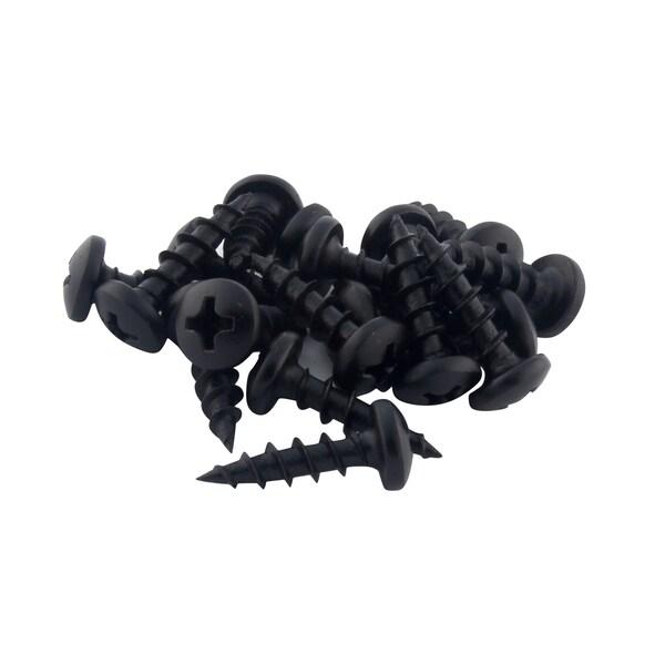 Rok Hardware #8-11 x 5/8-inch Deep / Coarse Thread Phillips Pan Head Screws Black Phosphate (Pack of 100)