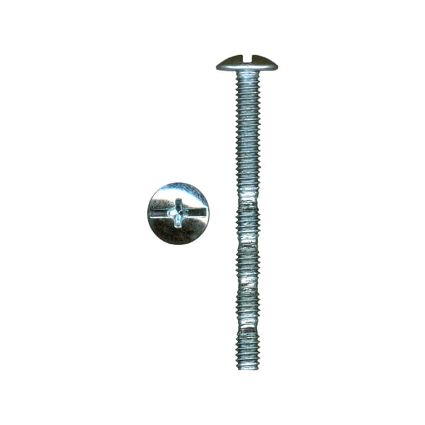 Rok Hardware #8-32 x 1.75 inch Screw Truss Head Phillips Slotted Machine Thread Break-Away Zinc (Bag of 100)