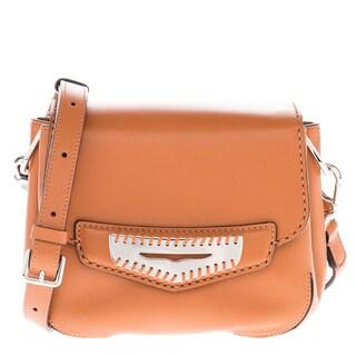 Tod's Mini Smooth Leather Tan Crossbody Infilature Penny Bar Flap Bag
