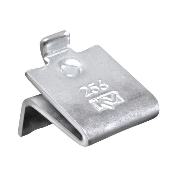 Knape and Vogt Adjustable Steel Pilaster Shelf Support Clip Zinc (Pack of 20)