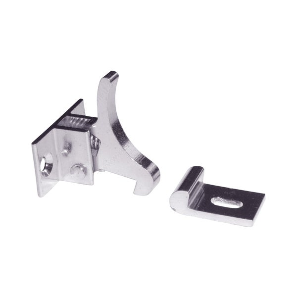 Rok Hardware Extra Heavy Duty Elbow Latch for Cabinet Door / Window Catch Nickel