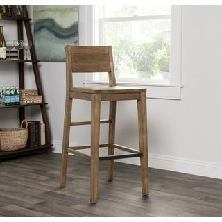 Kosas Home Oscar Handcrafted Natural Recovered Shipping Pallets Barstool