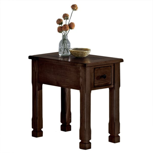 Rustic Ridge II Dark Brown Chairside Table
