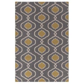Moroccan Modern Trellis Grey/Yellow Area Rug (2' x 3')