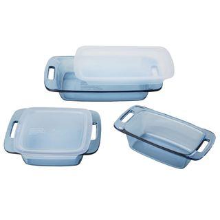 Pyrex Atlantic Blue 5-Piece Glass Bakeware Set