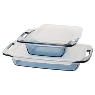 Pyrex Atlantic Blue Glass 4-Piece Value Pack