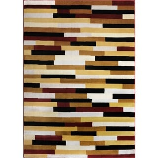 Home Dynamix Royalty Collection Red / Multicolor Machine Made Polypropylene Area Rug (7'8 x 10'4)