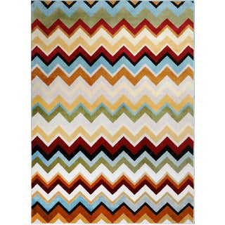 Home Dynamix Royalty Collection Multi (7'8X10'4) Machine Made Polypropylene Area Rug