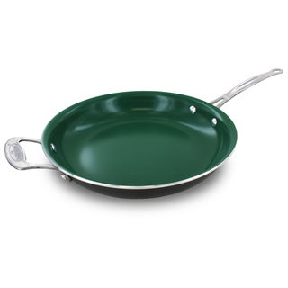 Orgreenic Kitchenware Green Ceramic Non-stick 12-inch Fry Pan, Pack of 2